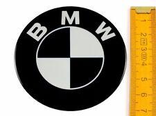 BMW ★ 4 Stück ★ SILIKON Ø70mm SCHWARZ Aufkleber Emblem Felgenaufkleber Radkappen