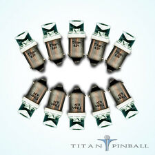 (10 Pack) - 6.3 Volt LED Bulb Concave 44/47 Base (BA9S) Pinball - COOL WHITE