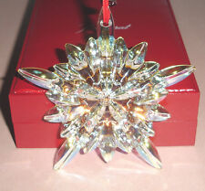 Baccarat Courchevel Iridescent Snowflake Ornament Noel 2013 #2804661 Crystal New