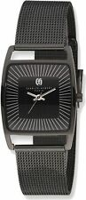 Charles Hubert Black IP-plated Stainless Steel Milanese Band Watch
