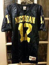 VINTAGE Michigan Wolverines Wilson Football Jersey #12 Adult M 42 Ricky Powers