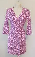 Diane von Furstenberg New Julian two mini French Kiss Tiny Peony pink 10 wrap