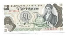 BILLETE COLOMBIA 20 PESOS ORO S/C