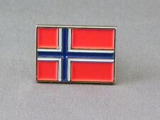 Norway / Norwegian Flag Enamel & Metal Lapel / Pin Badge - 24mm BRAND NEW