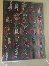 1996 Collector's Edge Rookie Rage Uncut Sheet Iverson Ray Allen Steve Nash
