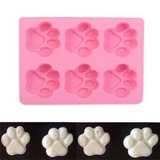 Dog Footprint Silicone Mold Ice Cube Candy Chocolate Jelly Cake Soap Mould OV