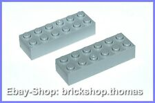 Lego 2 x Basic Steine grau (6 x 2) - 2456 - Brick Light Bluish Gray - NEU / NEW