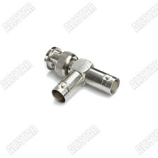"""BNC """"T"""" Type Connector 1 BNC Male to 2 BNC Female jack , Video Splitter Adapter"""