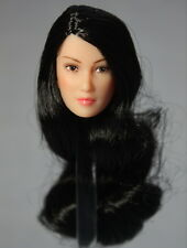 1/6 brunette Asian beauty head carving Can Fit phicen TTL CG Female Figure Body