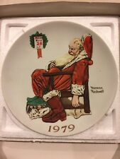 """1979 Norman Rockwell Plate """"The Day After Christmas"""""""