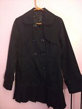 Double Breast Guess Pleated Trench Coat Size Medium