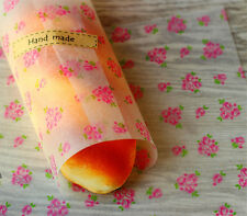 50pcs 22*25 Rose Food Wrapping wax paper Gift packaging Greaseproof Baking Paper