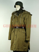 "WWII German Elite M43 Tan Rabbit Fur-lined ""Kharkov"" Winter Parka L"