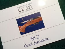 1997 VINTAGE CESKA ZBROJOVKA CZ-527 CZ CZECH SPORTING RIFLE INSTRUCTION MANUAL
