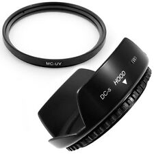 49mm Lens Hood Flower Petal,MCUV Filter for MINOLTA MAXXUM, USA , NEW Camera