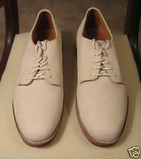 Churchill Ivory Nubuck Leather Oxfords US 10 1/2 W  Pre-owned with Box