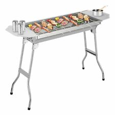 Outdoor Folding Portable Picnic BBQ Charcoal Barbecue Grill Stainless Steel NEW