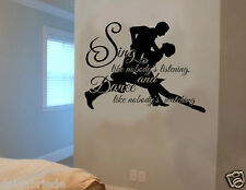 Sing like nobody's listening Wall art vinyl sticker quote home deco DIY