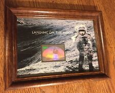 LANDING ON THE MOON SCOT 3413 MINT STAMP $11.75 HOLOGRAM SHEET YEAR 2000 FRAMED.