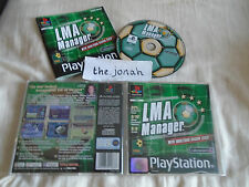 LMA Manager PS1 (COMPLETE) Sony PlayStation football managerment black label