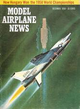MODEL AIRPLANE NEWS DEC 1958 WYLAM STINSON JUNIOR / F8U CV-59 / TRIPLANES ROLFE