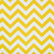 1m Premier Prints Fabric - Zig Zag Corn Yellow / Slub PER METRE chevron curtain
