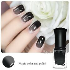 6ml Nail Art Peel Off Thermal Temperature Color Changing Polish Black to Grey