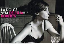 """PUBLICITE  2010   JULIA ROBERTS   """" LA DOLCE VITA""""  (6 pages)"""
