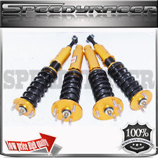 Coilover Suspension Adjustable Ride Height for 98-02 Honda and Acura Gold