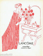 PUBLICITE ADVERTISING 125  1957  LACOME  maquillage naturel & léger