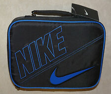 NIKE Lunch Box for school - black with blue trim and swoosh 9A2217-383 NWT