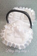 Universal Baby Car Seat Cosy Toes Cover, Liner ,Frilly Romany Bling  Ruffles