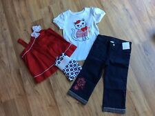 Gymboree Parisian Afternoon Girls Paris Lot Tops Cropped Pants Cat NWT 5t