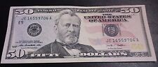 1 Lightly Circulated $50 Fifty Dollar Bill ~ $50 Total US Currency