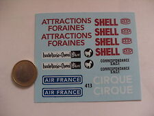 decals decalcomanie  deco dinky toy cij air france shell sncf hostellerie cheval