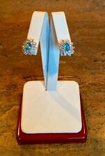 "NOLAN MILLER GLAMOUR COLLECTION ""DEMURE CLUSTER EARRINGS"" PIERCED GORGEOUS!!!"