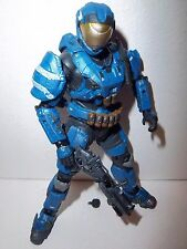 RARE!! Halo Reach Series 5 **BLUE SPARTAN SECURITY** 100% Complete w/ Weapons!