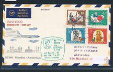 96374) LH FF München - Amsterdam  1.4.68, SoU ab Berlin, Satz Wofa