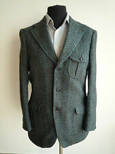 Harris Tweed Blazer da Uomo Sport Giacca Taglia (EU 52 UK 40) Medium Vintage 60s MOD