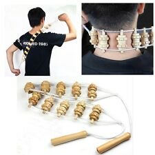 Full Body Back Shoulder and  Muscles Massager Wooden Rollers for Relaxing