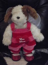 Build A Bear Fluffy Dog Valentines Day Bee Mine Outfit Wings Red Sparkle Shoes