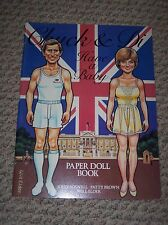 Vintage Chuck and Di Have a Baby Paper Doll Book, 1982