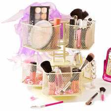 Revolving Make Up Jewellery Holder Carousel Cream Makeup Cosmetic Organiser