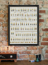 "99 Bottles of Craft Beer On The Wall Scratch-Off Chart 18"" x 24"""