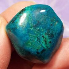 Beautiful colours Chrysocolla crystal tumblestone, Peru 12g SN2811
