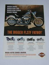 Harley Davidson Advert from 2007 - Original - features Fatboy