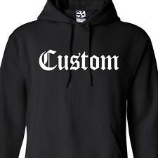 Custom Old English HOODIE Personalized Hooded Sweatshirt - All Sizes & Colors