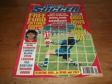 Football Magazine World Soccer September 1991 England V Germany Dean Saunders