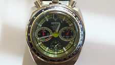 Vintage Pulsar Bullhead Chronograph true rare piece working green dial