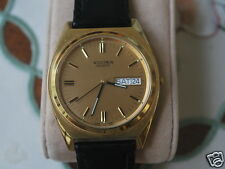 Nice Vintage Bulova ACCUTRON Gold Tone Men's Dress Watch w/Date/Day